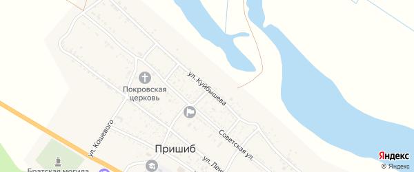 Улица Куйбышева на карте села Пришиба Астраханской области с номерами домов