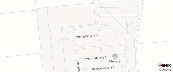 Молодежная улица на карте села Новогагатли с номерами домов