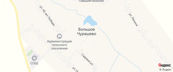 Улица 40 лет Победы на карте села Большое Чурашево с номерами домов