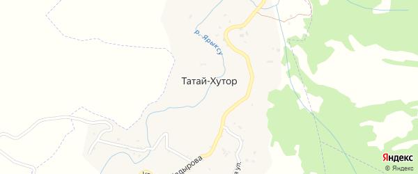 Улица А-Х.Кадырова на карте села Татая-Хутора Чечни с номерами домов