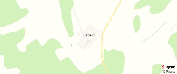 Карта деревни Ежово в Костромской области с улицами и номерами домов