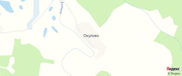Карта деревни Окулово в Вологодской области с улицами и номерами домов