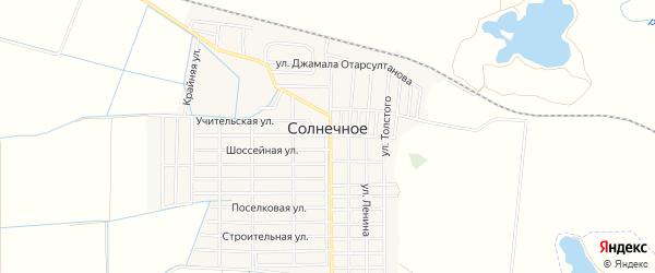 Карта Солнечного села в Дагестане с улицами и номерами домов
