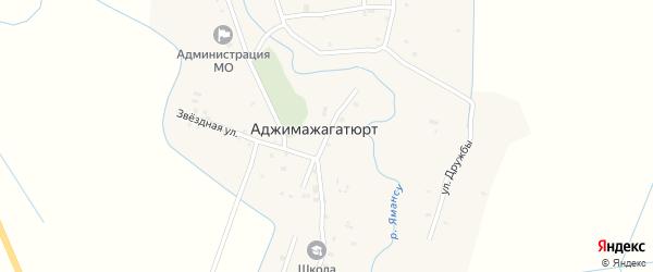 Улица Победы на карте села Аджимажагатюрта с номерами домов