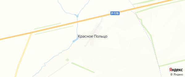 Карта поселка Красного Польца в Мордовии с улицами и номерами домов