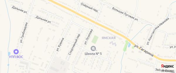 Улица Осипова на карте Алатыря с номерами домов