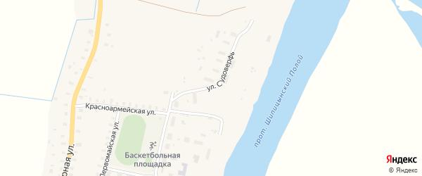 Улица Судоверфь на карте поселка Шипицыно с номерами домов