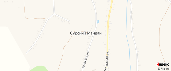 Стрелецкая улица на карте села Сурского Майдана с номерами домов