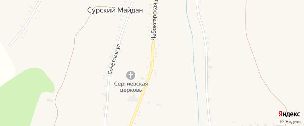Чебоксарская улица на карте села Сурского Майдана с номерами домов