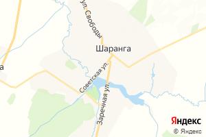 Карта пгт Шаранга Нижегородская область