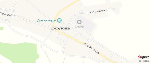 Улица Дзержинского на карте села Сокрутовки Астраханской области с номерами домов
