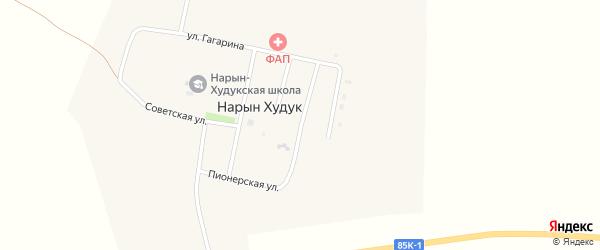 Улица 40 лет Победы на карте поселка Нарына Худука Калмыкии с номерами домов