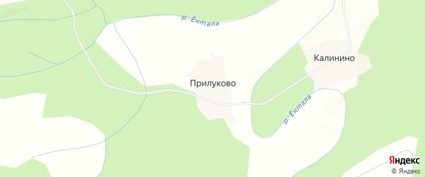 Карта деревни Прилуково в Вологодской области с улицами и номерами домов