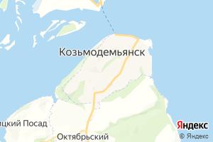 Карта г. Козьмодемьянск Республика Марий Эл