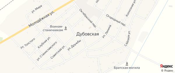 Колхозная улица на карте Дубовской станицы с номерами домов