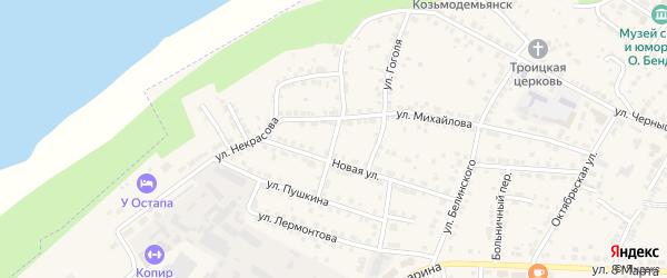 Новый переулок на карте Козьмодемьянска с номерами домов