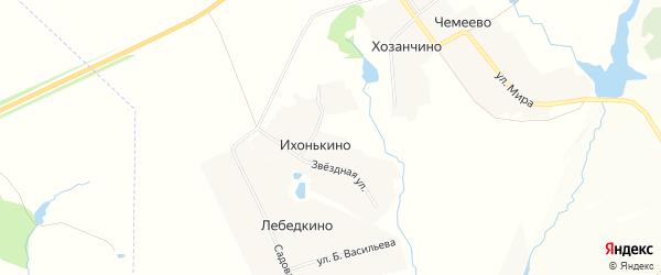 Карта деревни Ихонькино в Чувашии с улицами и номерами домов
