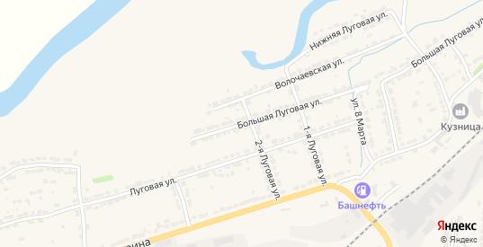 Большая Луговая улица в Алатыре с номерами домов на карте. Спутник и схема онлайн