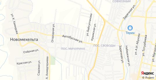 Карта поселка Мичурина в Хасавюрте с улицами, домами и почтовыми отделениями со спутника онлайн
