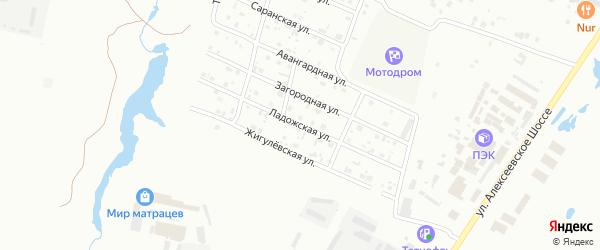 Ладожская улица на карте Кузнецка с номерами домов