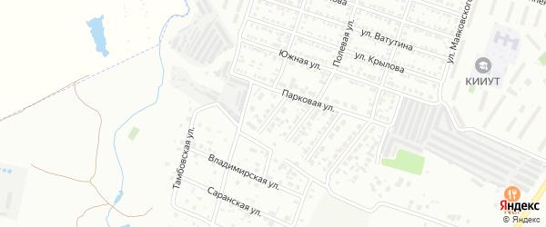 Парковый 2-й проезд на карте Кузнецка с номерами домов