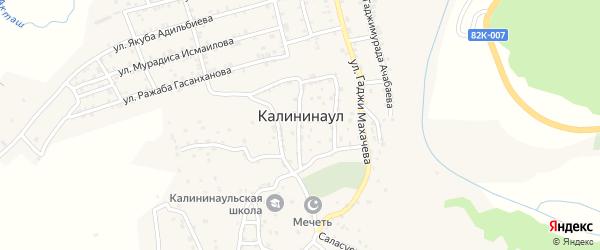 Поперечная 1-я улица на карте села Калининаула с номерами домов