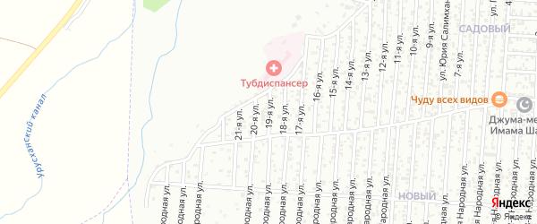 19-я улица на карте Восточного микрорайона с номерами домов