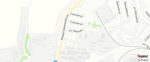 Улица Павлова на карте Кузнецка с номерами домов