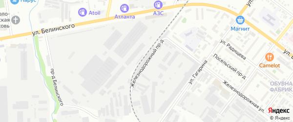 Улица Жилые дома 832 км ж/д на карте Кузнецка с номерами домов