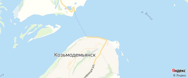 Карта Козьмодемьянска с районами, улицами и номерами домов