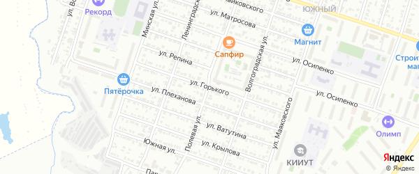 Улица Горького на карте Кузнецка с номерами домов
