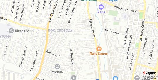 Лесные поляны улица 2-й проезд в Хасавюрте с номерами домов на карте. Спутник и схема онлайн