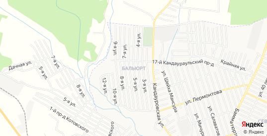 Карта поселка Балюрт в Хасавюрте с улицами, домами и почтовыми отделениями со спутника онлайн