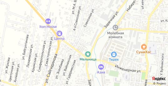 Совхозный проезд в Хасавюрте с номерами домов на карте. Спутник и схема онлайн