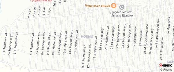 28-я улица на карте Нового поселка с номерами домов