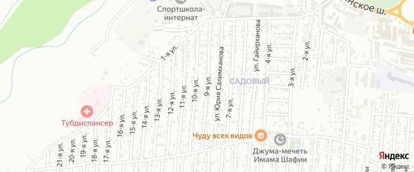 9-я улица на карте Садового поселка с номерами домов