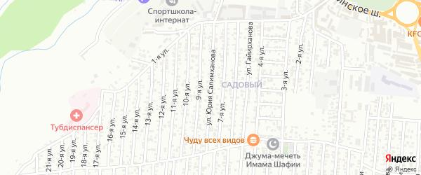 8-я улица на карте Садового поселка с номерами домов