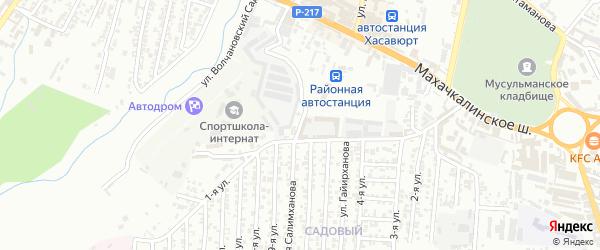 Кандауровский 8-й проезд на карте Хасавюрта с номерами домов