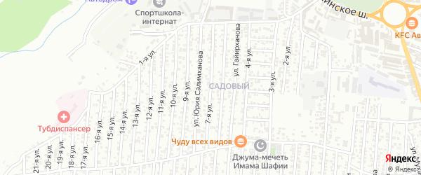 7-я улица на карте Садового поселка с номерами домов