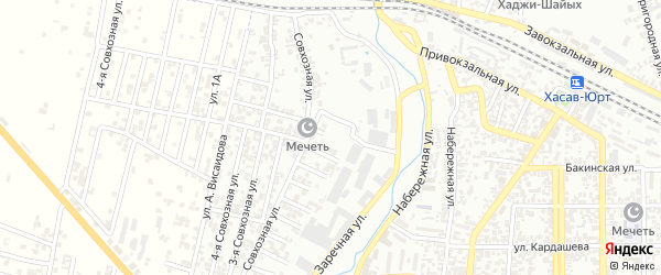 Кандаураульская улица 2-й проезд на карте Хасавюрта с номерами домов