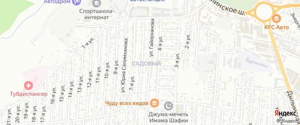 5-я улица на карте Садового поселка с номерами домов
