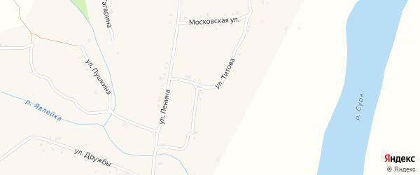 Улица Титова на карте села Явлеи с номерами домов