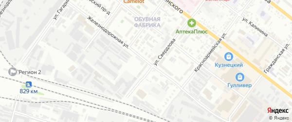 Железнодорожная улица на карте Кузнецка с номерами домов