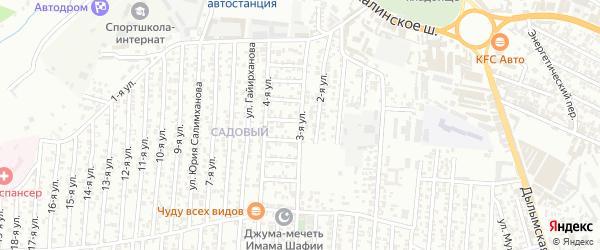 3-я улица на карте Олимпийского микрорайона с номерами домов