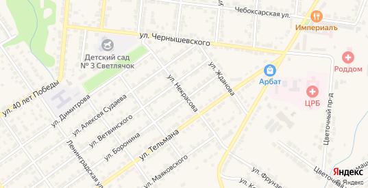 Улица Некрасова в Алатыре с номерами домов на карте. Спутник и схема онлайн