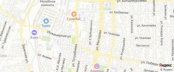 Пионерская улица на карте Хасавюрта с номерами домов