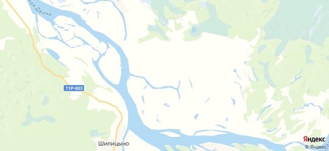 Сухой Бор Малый на карте