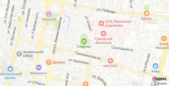 Магистральная улица в Хасавюрте с номерами домов на карте. Спутник и схема онлайн