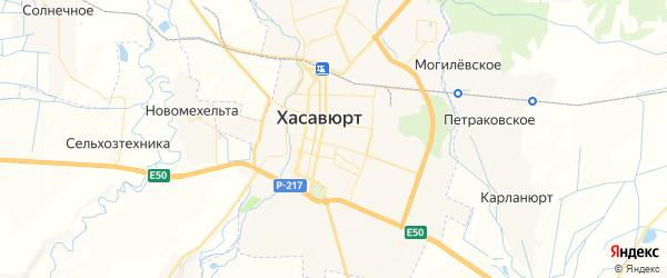 Карта Хасавюрта с районами, улицами и номерами домов