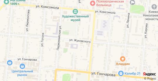 Улица Жуковского в Алатыре с номерами домов на карте. Спутник и схема онлайн
